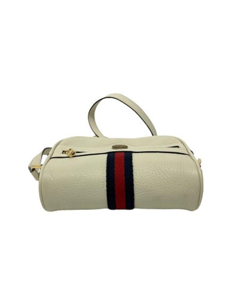 Gucci White Leather Ophidia Bag For Sale 2