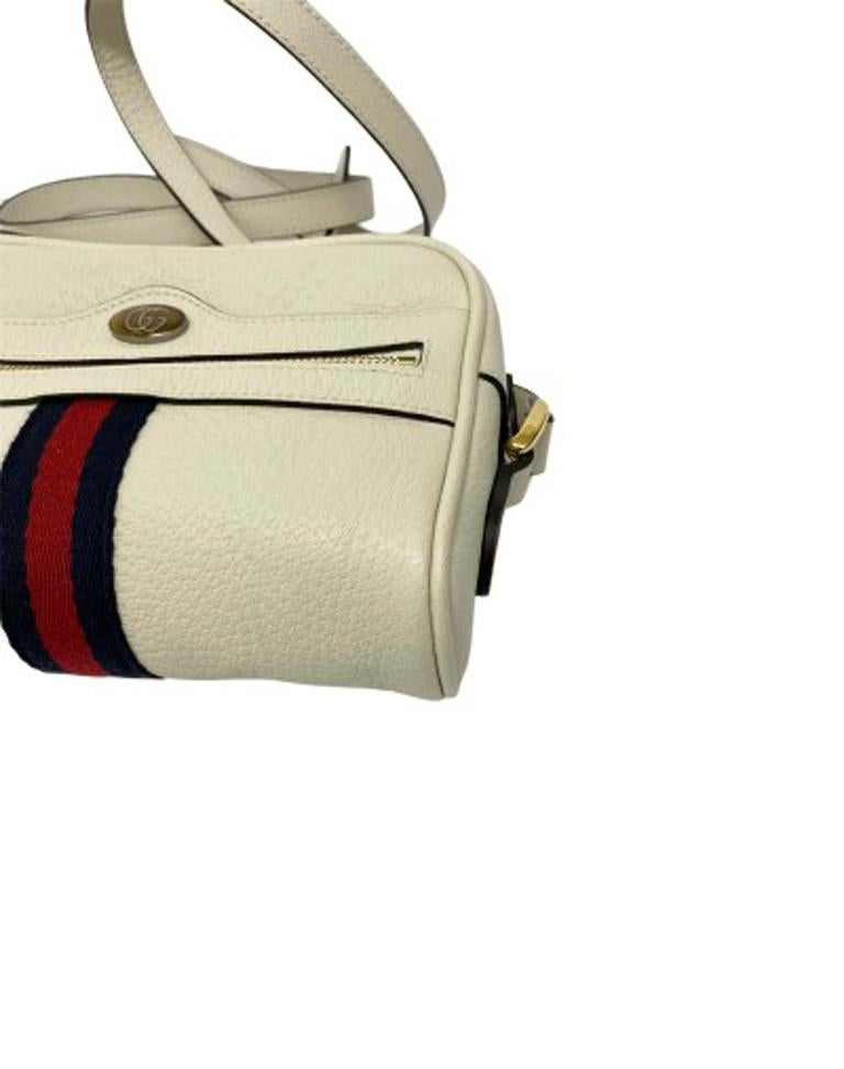 Gucci White Leather Ophidia Bag For Sale 3