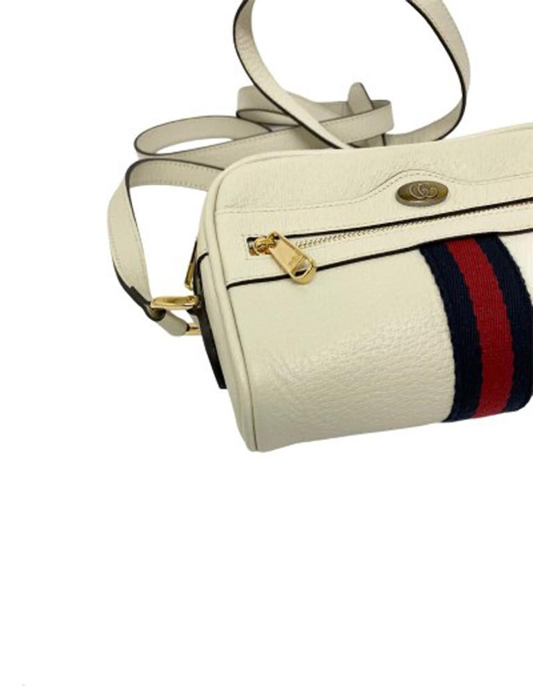 Gucci White Leather Ophidia Bag For Sale 4