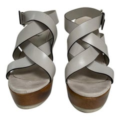 Gucci white sandals