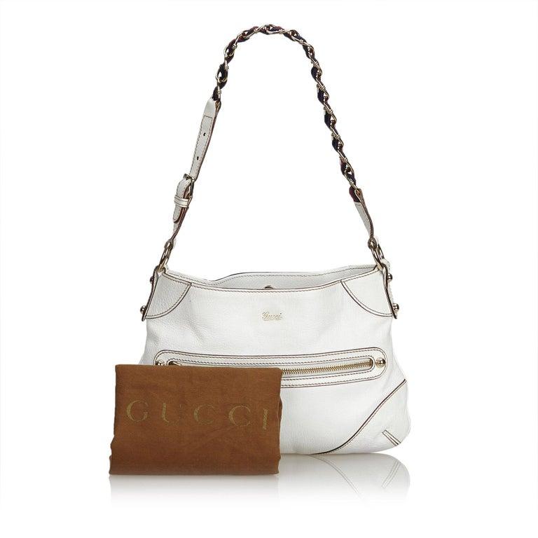 ee863d0b14a Gucci White Small Capri Shoulder Bag at 1stdibs