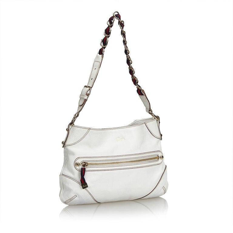 448902a6784 Gucci White Small Capri Shoulder Bag For Sale. The Capri shoulder bag  features a leather body