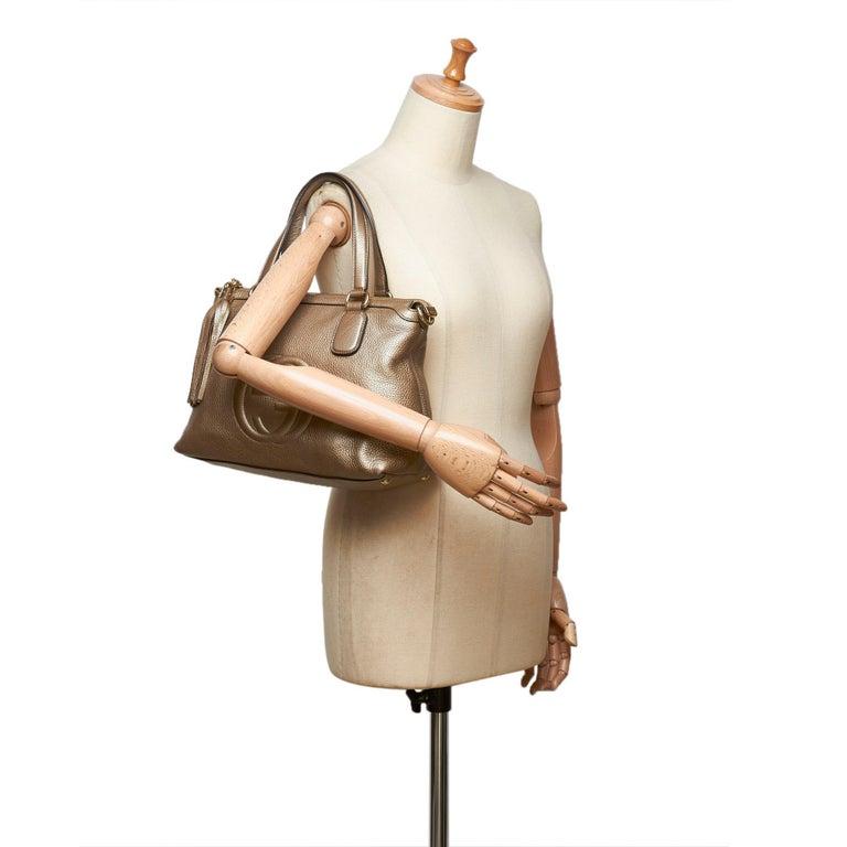 Gucci White Soho Leather Handbag 7