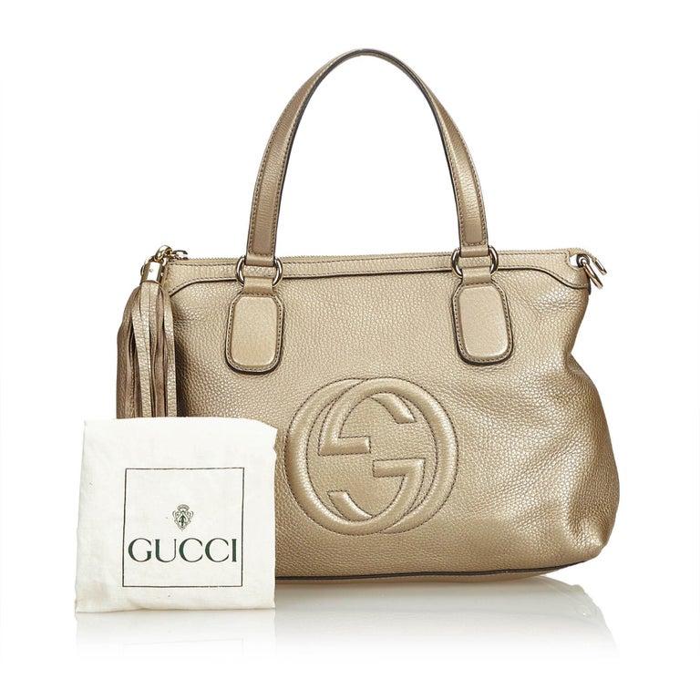 Gucci White Soho Leather Handbag 8
