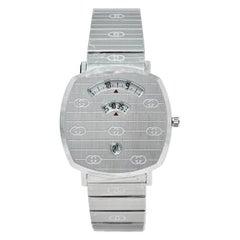Gucci White Stainless Steel Grip YA157410 Women's Wristwatch 38 mm
