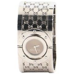 Gucci Wide Twirl Quartz Watch Stainless Steel 23