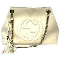 Gucci Withe Leather Soho Shoulder Bag