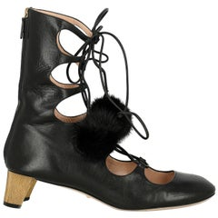 Gucci Woman Ankle boots Black Leather IT 39.5