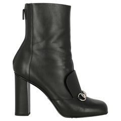 Gucci Woman Ankle boots Black Leather IT 40