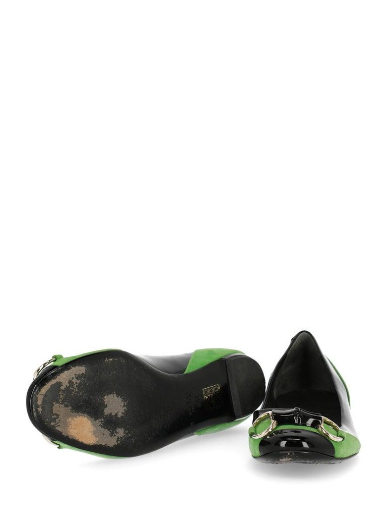 Women's Gucci Woman Ballet flats Black, Green EU 38 For Sale