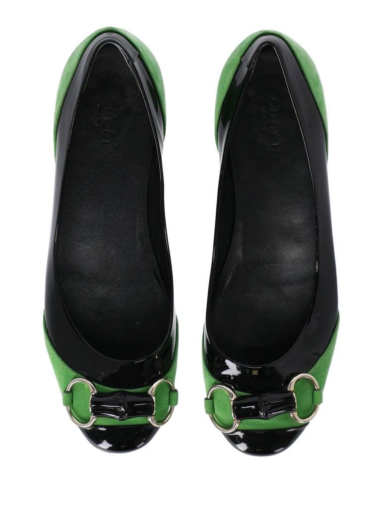 Gucci Woman Ballet flats Black, Green EU 38 For Sale 1