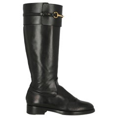 Gucci Woman Boots Black Leather IT 38