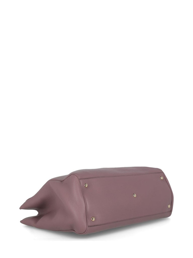 Women's Gucci Woman Handbag Bamboo Purple Leather For Sale