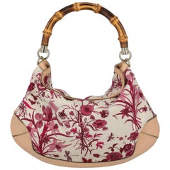 Gucci Woman Handbag Beige Fabric