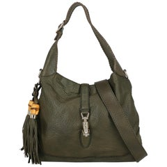 Gucci Woman Handbag Jackie Green Leather