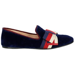 Gucci Woman Loafers Navy Fabric IT 39.5