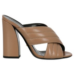 Gucci Woman Mules Beige Leather IT 36