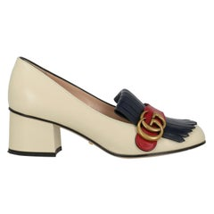 Gucci Woman New Arrivals Ecru Leather IT 35.5