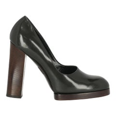 Gucci Woman Pumps Anthracite Leather IT 38