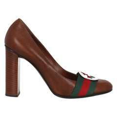 Gucci Woman Pumps Brown Leather IT 37