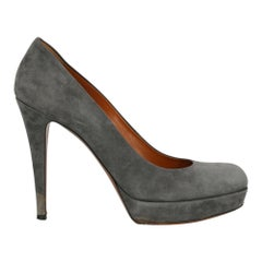 Gucci Woman Pumps Grey Leather IT 39.5