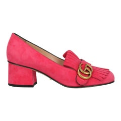 Gucci Woman Pumps Pink Leather IT 36