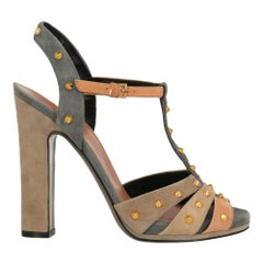 Gucci Woman Sandals Beige Leather IT 36.5