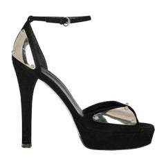 Gucci Woman Sandals Black Leather IT 37