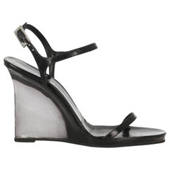 Gucci Woman Sandals Black Leather IT 40.5