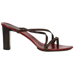 Gucci Woman Sandals Brown Leather IT 39.5