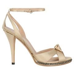 Gucci Woman Sandals Ecru Fabric IT 38