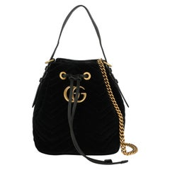 Gucci Woman Shoulder bag Marmont Black Fabric