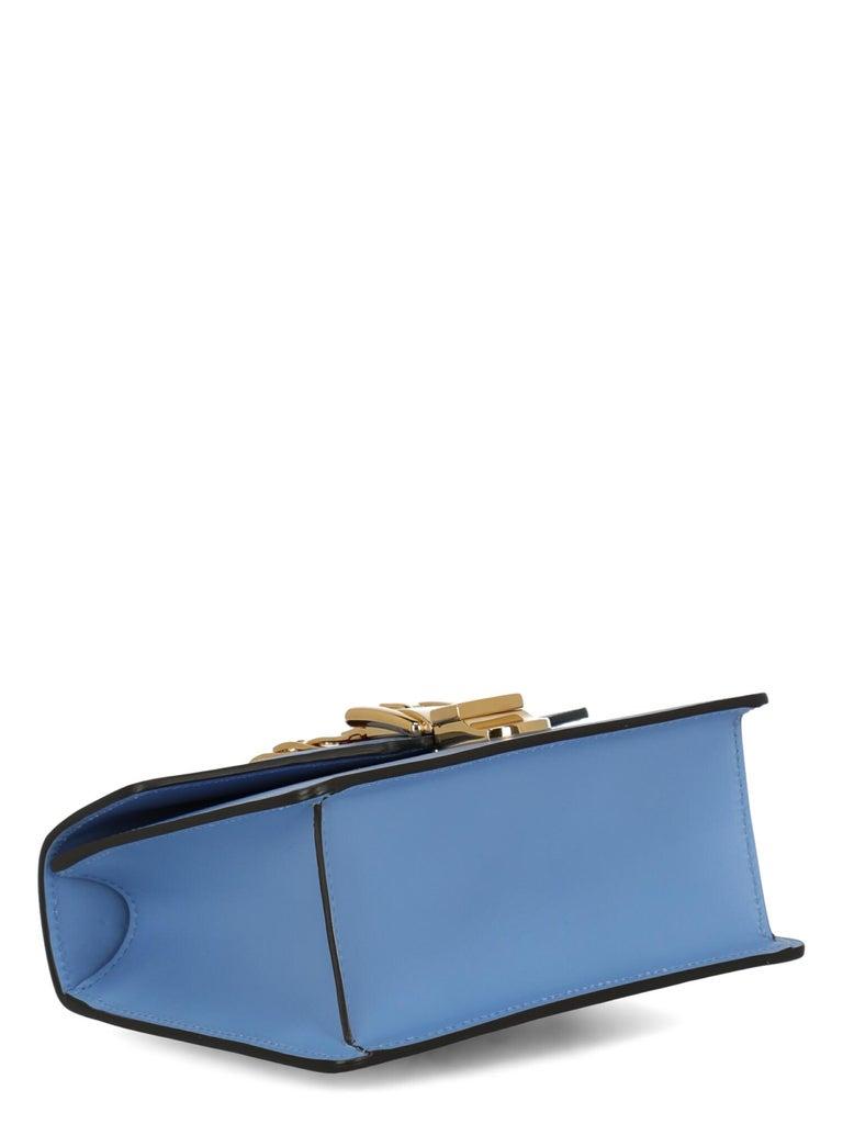 Women's Gucci Woman Shoulder bag Sylvie Blue Leather