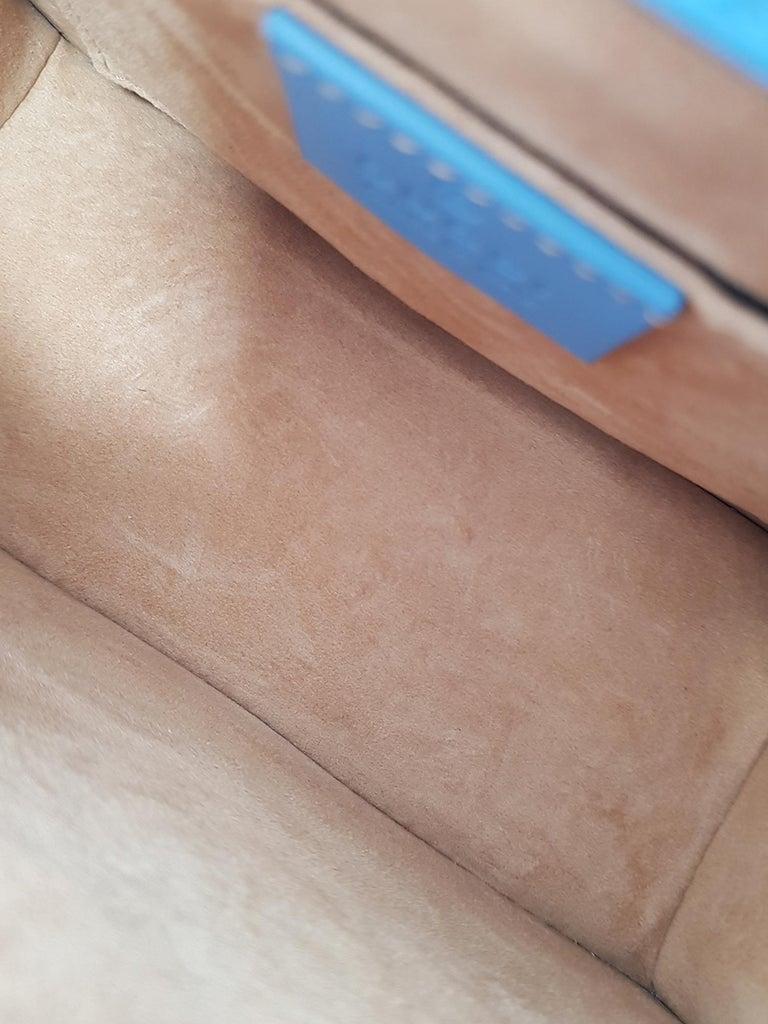 Gucci Woman Shoulder bag Sylvie Blue Leather 1