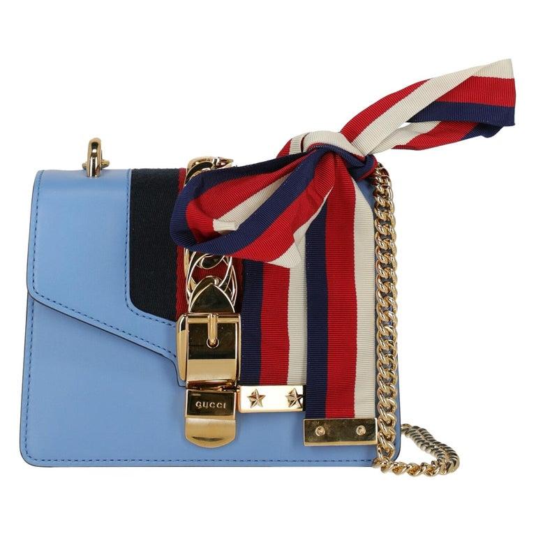 Gucci Woman Shoulder bag Sylvie Blue Leather