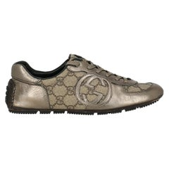 Gucci Woman Sneakers Beige Leather, Synthetic Fibers IT 36