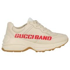 Gucci Woman Sneakers Ecru Leather IT 35.5