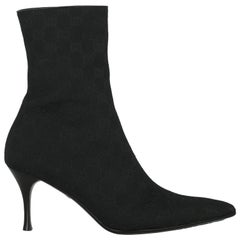 Gucci  Women   Ankle boots  Black Fabric EU 39