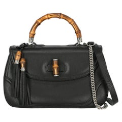 Gucci  Women   Handbags Bamboo Black Leather