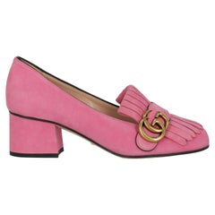 Gucci  Women   Loafers  Pink Leather EU 35.5