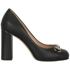Gucci Women  Pumps Black Leather IT 37