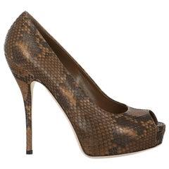Gucci  Women   Pumps  Brown Leather EU 37.5