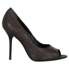 Gucci  Women   Pumps  Brown Leather EU 38