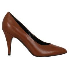 Gucci  Women   Pumps  Brown Leather EU 40