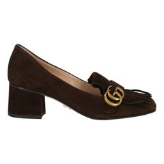 Gucci Women  Pumps Brown Leather IT 38