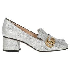 Gucci  Women   Pumps  Silver Leather EU 36