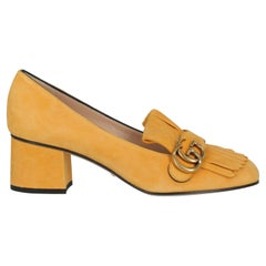 Gucci Women  Pumps Yellow Leather IT 39