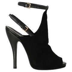 Gucci  Women   Sandals  Black Leather EU 36