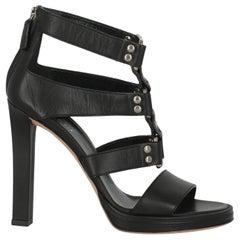 Gucci Women  Sandals Black Leather IT 36