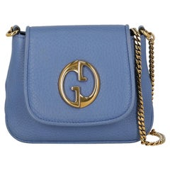 Gucci  Women   Shoulder bags  1973 Blue Leather